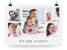 Stampare collage di foto su poster