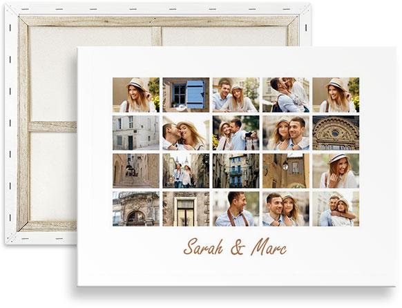 collage 20 foto op canvas
