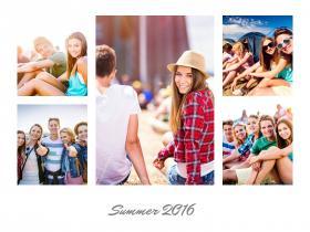 collage amicizia_con 5 foto