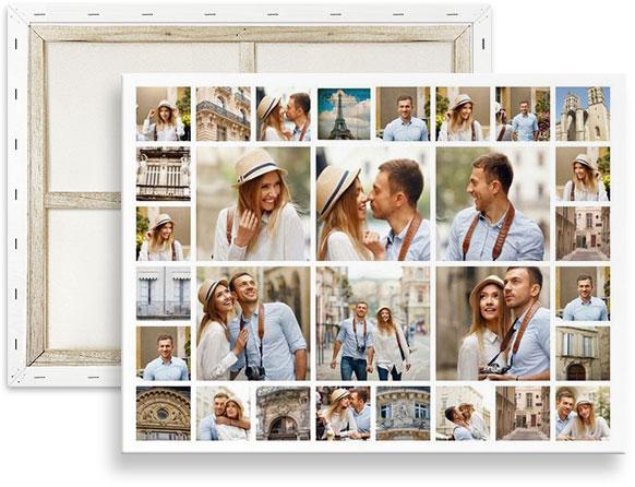 collage di 30 foto op canvas