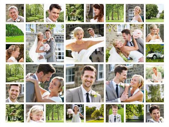 collage di 30 foto slider