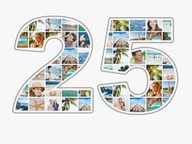 foto collage compleanno 25 grande