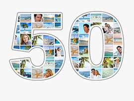 foto collage compleanno 50 grande