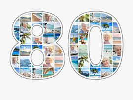 foto collage compleanno 80 grande