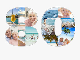 foto collage compleanno 80